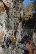 Rock Climbing Photo: Otey riding the peanut on a nice fall day