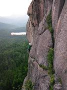 Rock Climbing Photo: Olga Mirkina following the third pitch traverse of...