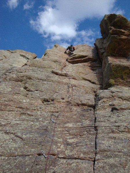 Ryan at the top of Conglomerate Face.