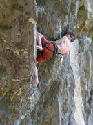 Rock Climbing Photo: Me redpointing Tin Monkeys at Rumney