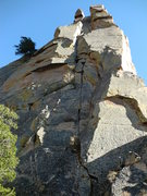 Rock Climbing Photo: The classic pitches 3-4. Totally an awesome, 60m, ...