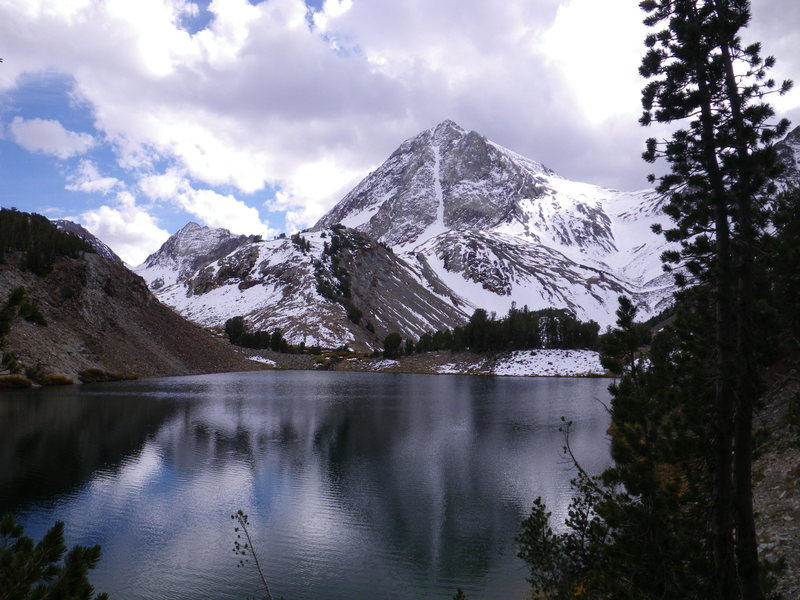 16-October-2010: North Couloir as viewed from Lake Wit-So-Nah-Pah