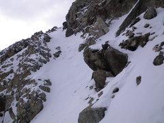Rock Climbing Photo: 16-October-2010: final chute to summit