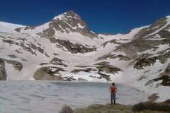 """Rock Climbing Photo: We circumnavigated Blue Lake by going """"looker's ..."""