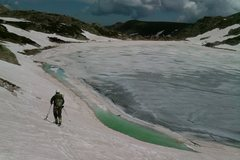 Rock Climbing Photo: Circumnavigating Blue Lake (11,355')