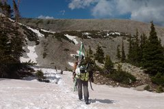 Rock Climbing Photo: The snow was too soft (and was just dirt near the ...