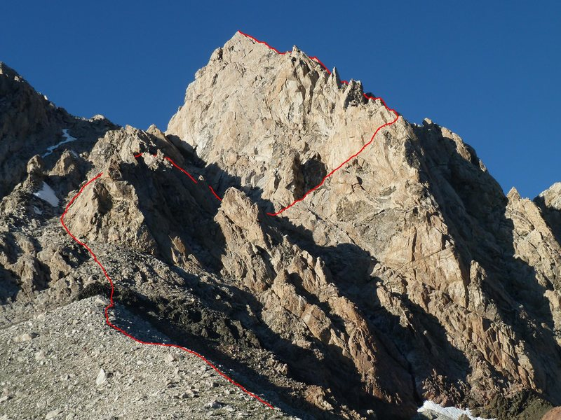 Rock Climbing Photo: Upper Exum Ridge viewed from the Lower Saddle