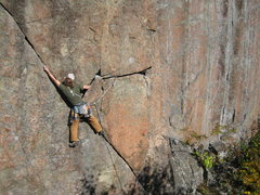 Rock Climbing Photo: Myself getting into the crack. Photo by Alexa Sieg...