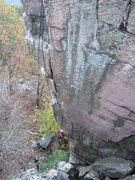 Rock Climbing Photo: The route with Jay Knower.