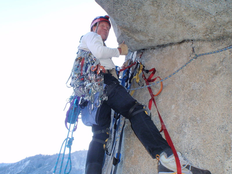Rock Climbing Photo: clearing the roof
