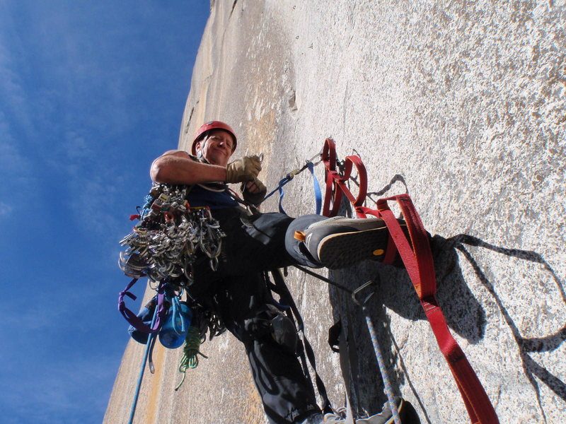Rock Climbing Photo: up we go