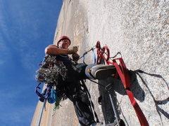 Rock Climbing Photo: up we go
