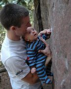 Rock Climbing Photo: JJ's first day checking out the rocks. Does this n...