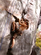 Rock Climbing Photo: Just before the crux