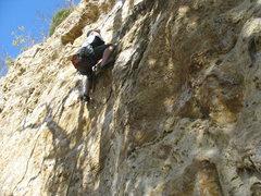 Rock Climbing Photo: Dan Wilkinson on the fun, juggy holds.