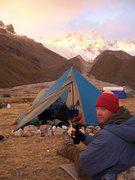 Rock Climbing Photo: Ishinca Base Camp, Peru