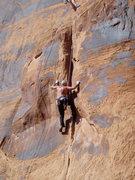 Rock Climbing Photo: Steve Arsenault beginning the upper crux. Brian De...