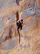 Rock Climbing Photo: Steve Arsenault finishing the upper crux. Brian De...