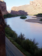 Rock Climbing Photo: Looking up the Colorado River from Wall Street.
