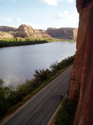 Rock Climbing Photo: Looking down the Colorado River from Wall Street.