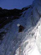 Rock Climbing Photo: Starting up Nemesis at first light.