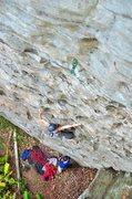 Rock Climbing Photo: Enjoying the fun, featured climbing below the crux...