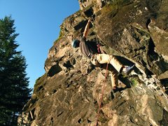 Rock Climbing Photo: Bret on the crux of I Lost My Marbles