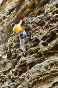 Rock Climbing Photo: Not a great photo but it does show how featured an...