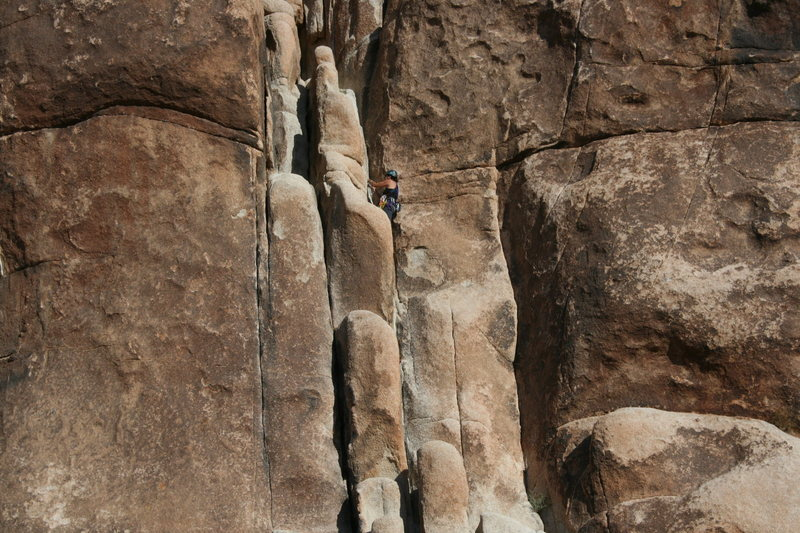 Rock Climbing Photo: Agina Sedler leading pitch one.