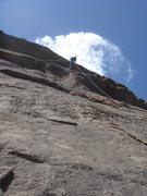Rock Climbing Photo: Chris running the Australian down Happy Trails.