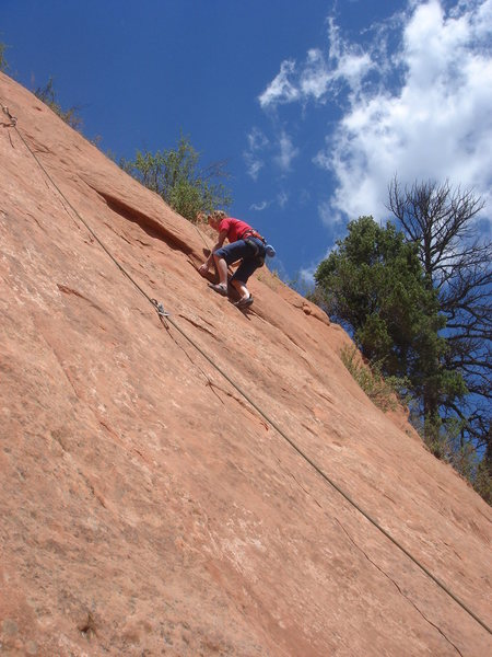 Rock Climbing Photo: Dana on Frigga.