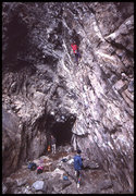 Rock Climbing Photo: Main Cave 1990, before the floor. Photo by Blitzo.