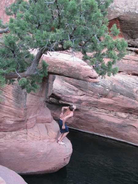 Rock Climbing Photo: Wet Beaver Creek DWS