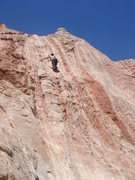 Rock Climbing Photo: Kimberly climbing on the 4th anchor from the right...