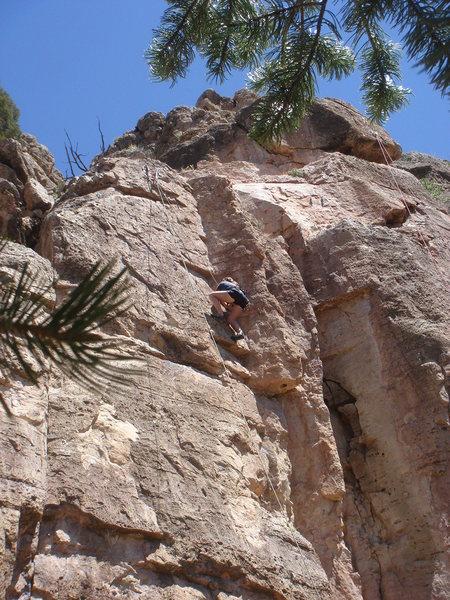Rock Climbing Photo: Alexandra climbing Solar Eclipse.