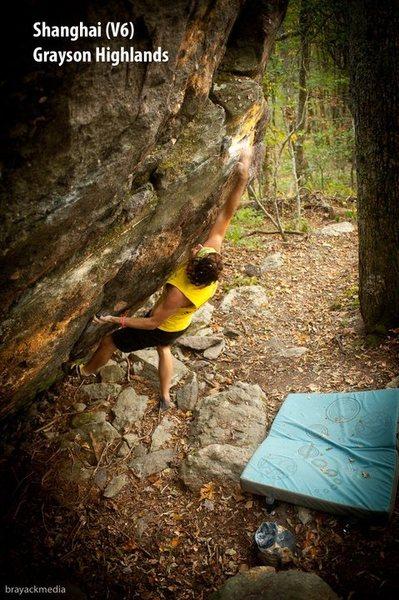 Rock Climbing Photo: Steve Lovelace making moves in GHSP