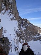 Rock Climbing Photo: On Broadway on a attempt of a winter ascent of the...
