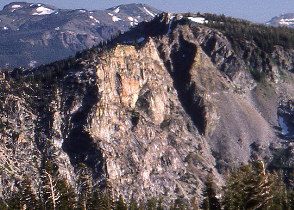 Indian Rock from Mt Tallac.<br> Photo by Blitzo.