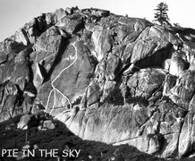 "Rock Climbing Photo: ""Pie in the Sky. Three start variations. Phot..."