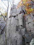 "Rock Climbing Photo: ""Pearly Gate"" 5.9 is the inside corner."