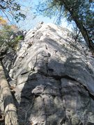 "Rock Climbing Photo: South corner is 5.6, face to the right is ""Pe..."
