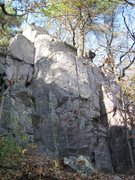 """Rock Climbing Photo: This is the north buttress of Buy Gully. """"Not..."""