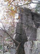 "Rock Climbing Photo: ""Der Schnozzel"" 5.8 climbs the right sid..."