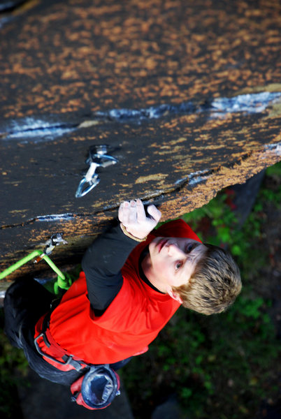Rock Climbing Photo: More hard moves post rest  Photo by Becca Weingart...