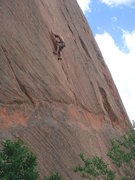Rock Climbing Photo: Ryan Sanders leading Ripple Effect.