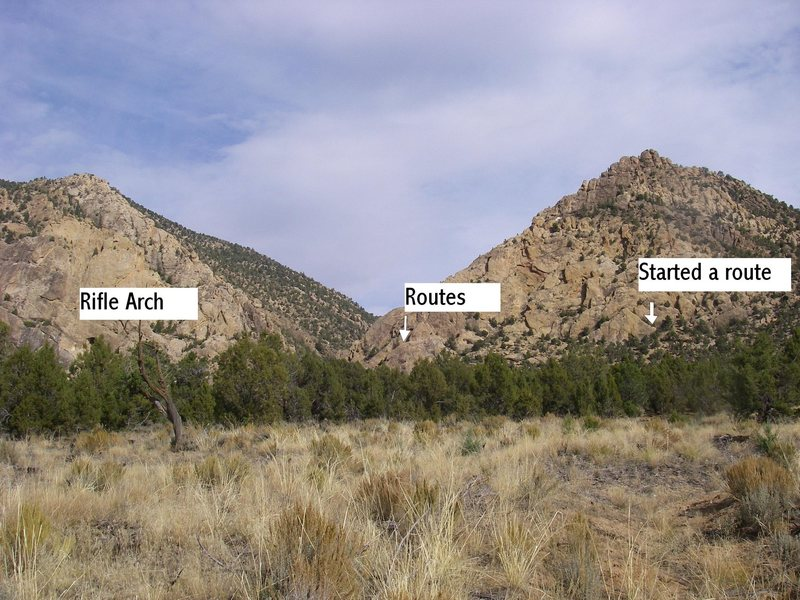 Location photo in relation to Rifle Arch.
