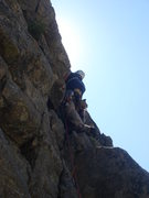 Rock Climbing Photo: Lee Rittenmeyer leading Jam It.