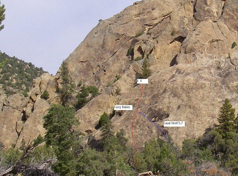 Rock Climbing Photo: Route pic.