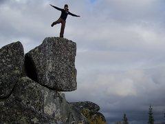 Rock Climbing Photo: Glacial erratic in Alaska