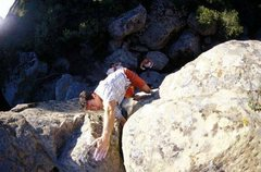 Rock Climbing Photo: Civilized attire on an early ascent of Touch of Ev...